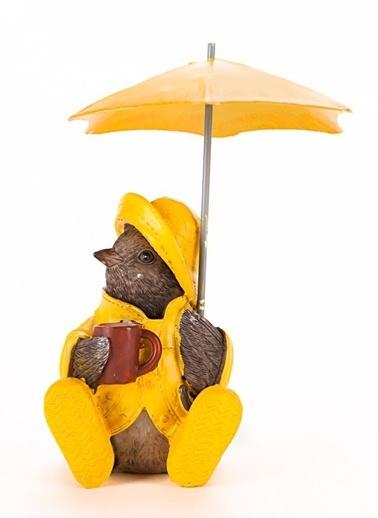 Warm Design Sarı Yağmurluklu Kuş Sarı